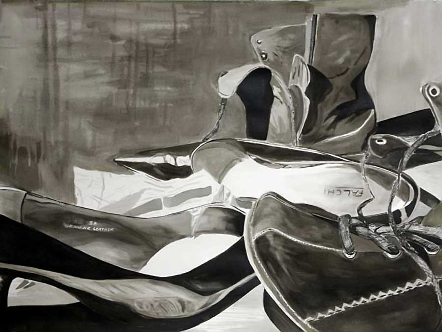mimetic  pen and ink wash
